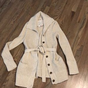 Aerie cream sweater cardigan